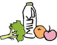 Fruit, vegetables & milk