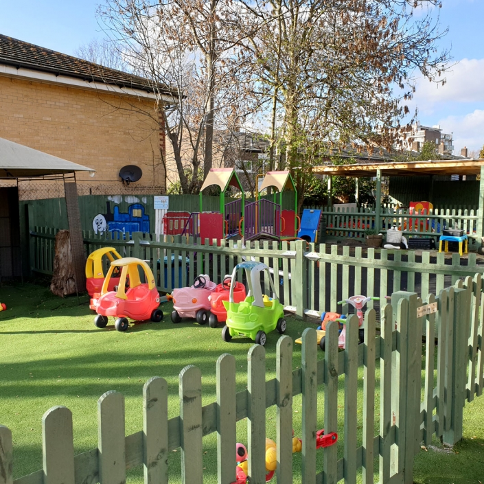 Some of the wonderful outdoor facilities at Little Cedars Day Nursery.