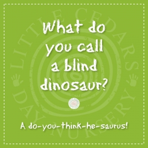 What do you call a blind dinosaur?