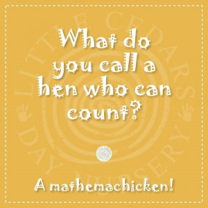 What do you call a hen who can count?
