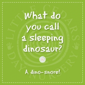What do you call a sleeping dinosaur?