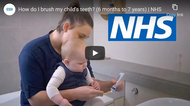 How to brush your baby or child's teeth