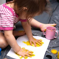 Messy play is enjoyed universally amongst children, especially the very young
