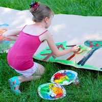 Messy play allows children to express themselves in unbounded creative ways